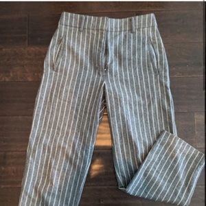 Wilfred Grey Pinstripe Trousers (size 4)